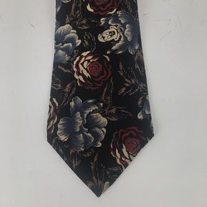Walt Disney floral patterned Mickey Mouse necktie